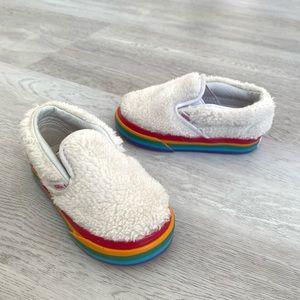 VANS shearling rainbow shoes